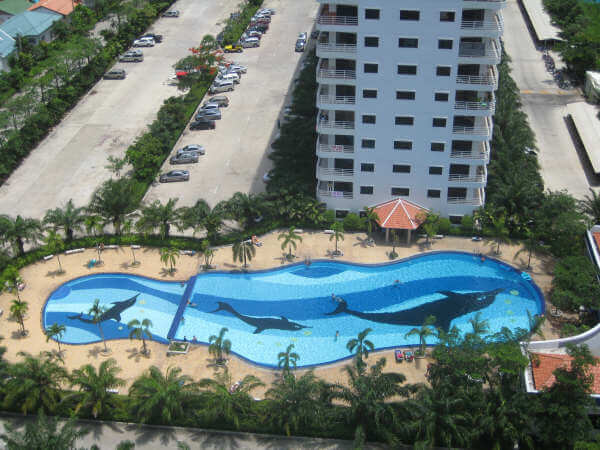 Swimming pool area at Talay 2A